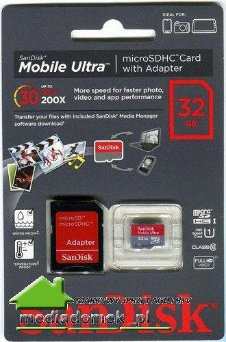 KARTA PAMIĘCI SanDisk 32GB Class10 30MB/S