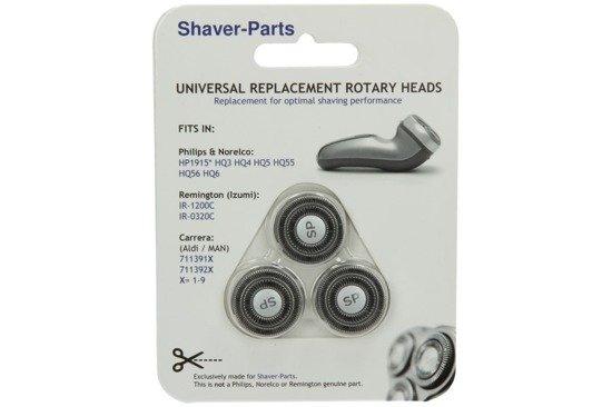 Shaver-Parts HQ3-HQ56 Głowice golące do golarek Philips HQ3, HQ4, HQ5, HQ55, HQ56
