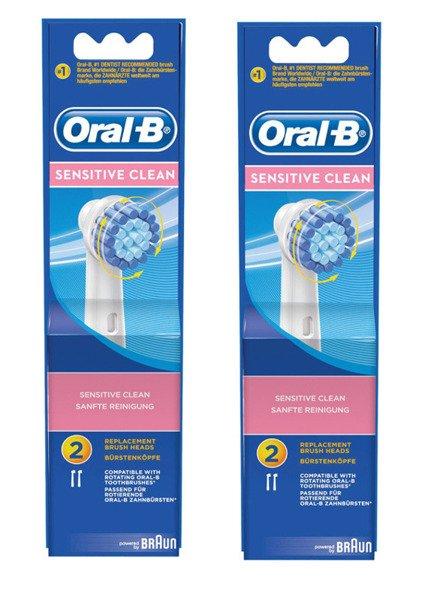 4 szt ORAL-B SENSITIVE CLEAN EBS17 100% ORYGINAŁ