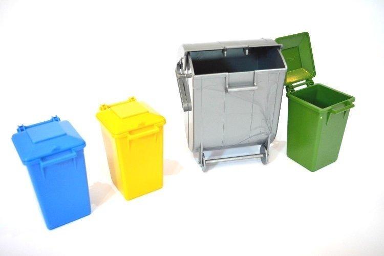 BRUDER 02607 śmietniki do śmieciarki 03560 kubły