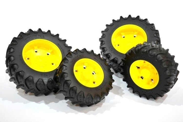 BRUDER 03314 koła bliźniaki żółte John Deere 03000