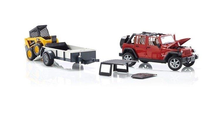 Bruder 02925 Jeep Wrangler z lawetą i ładowarką