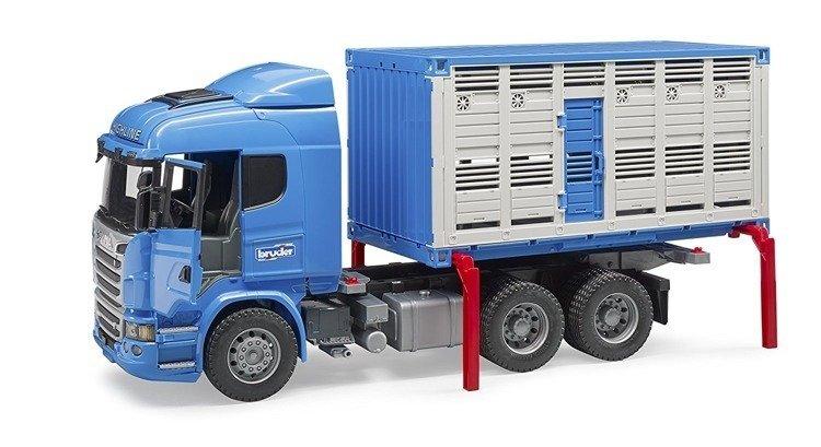 Bruder 03549 Scania do przewozu zwierząt i figurką