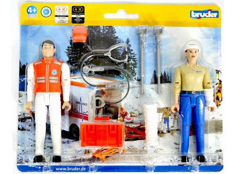Bruder 62710 bWorld figurki ratownik i pacjentka