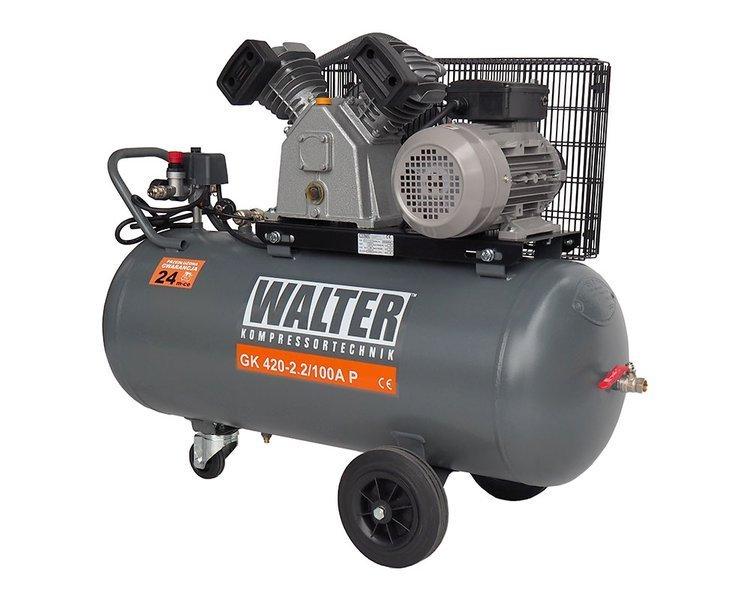 KOMPRESOR SPRĘŻARKA WALTER GK 420-2,2/100A P 10 BAR 100L 230V