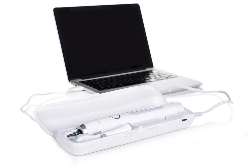 MERIDEN Biała Szczoteczka SONIC+ PRO Etui USB