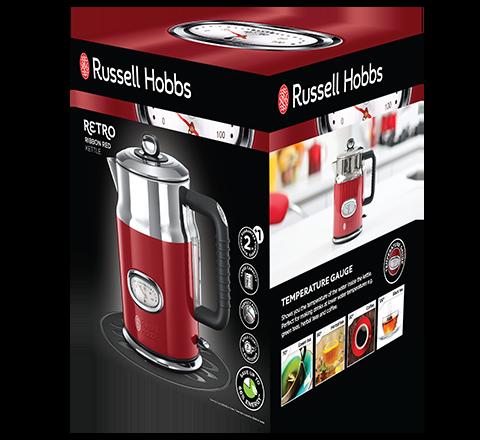 RUSSELL HOBBS 21670-70 CZAJNIK RETRO RIBBON RED