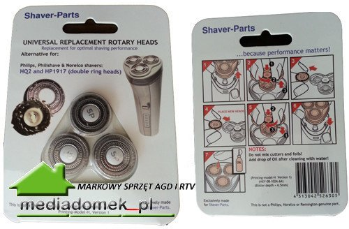 SHAVER-PARTS HQ2 Ostrza do golarek Philips HQ2 HP1917