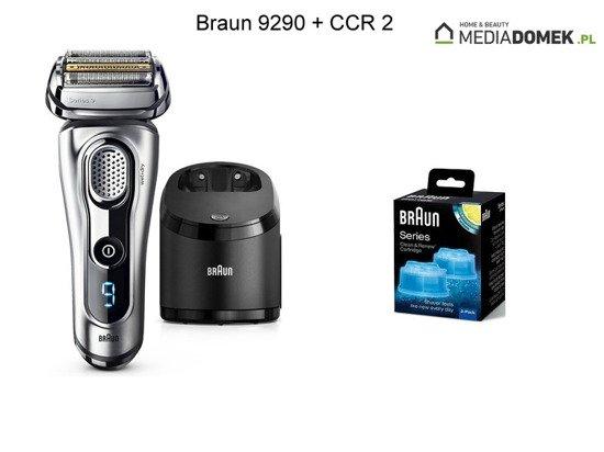 Zestaw Golarka Braun 9290CC + Wkłady Braun CCR2