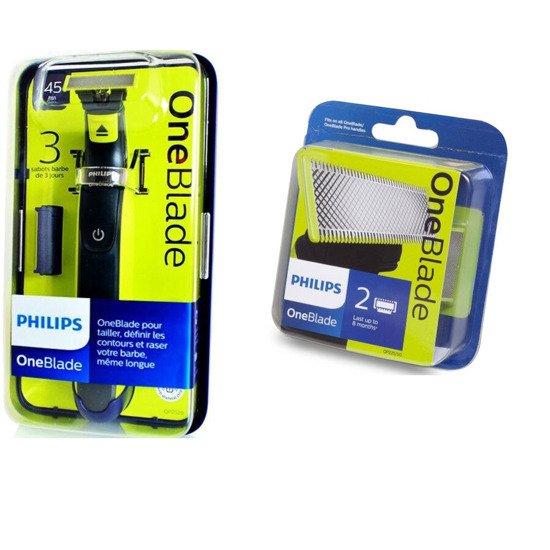 Zestaw PHILIPS QP2520/20 OneBlade + 2 wymienne ostrza qp220/55