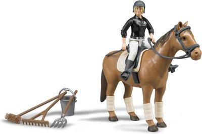 BRUDER 62505 Figurka dżokejki  koń akcesoria